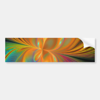 Abstract Vibrant Fractal Butterfly Bumper Stickers