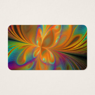Abstract Vibrant Fractal Butterfly Business Card