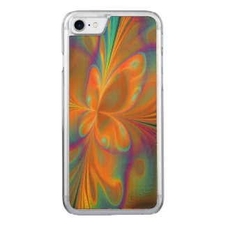Abstract Vibrant Fractal Butterfly Carved iPhone 8/7 Case
