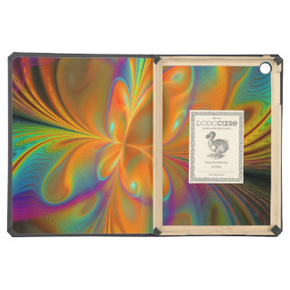 Abstract Vibrant Fractal Butterfly iPad Air Cases