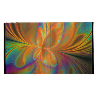 Abstract Vibrant Fractal Butterfly iPad Folio Case