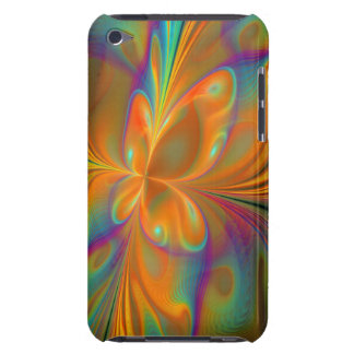 Abstract Vibrant Fractal Butterfly Barely There iPod Case