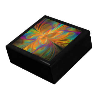 Abstract Vibrant Fractal Butterfly Gift Box