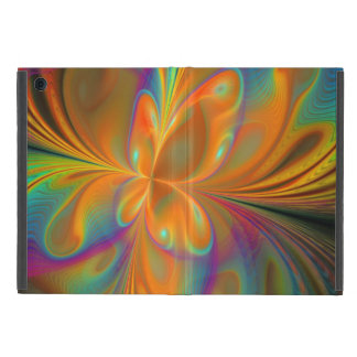 Abstract Vibrant Fractal Butterfly Cases For iPad Mini