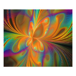 Abstract Vibrant Fractal Butterfly Photo Art