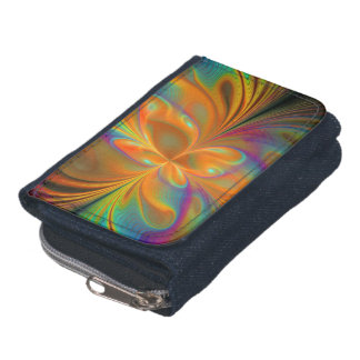 Abstract Vibrant Fractal Butterfly Wallet