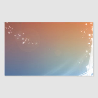 Abstract Vibrant Hot and Cold Rectangular Sticker