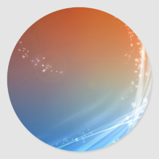 Abstract Vibrant Hot and Cold Round Sticker