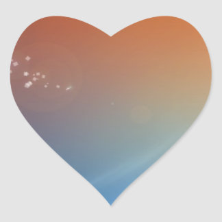 Abstract Vibrant Hot and Cold Heart Sticker