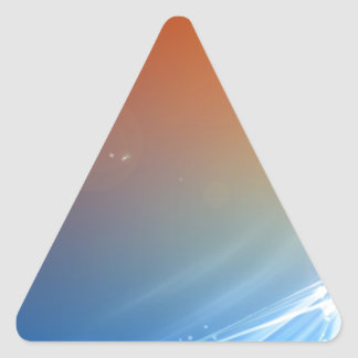 Abstract Vibrant Hot and Cold Triangle Sticker