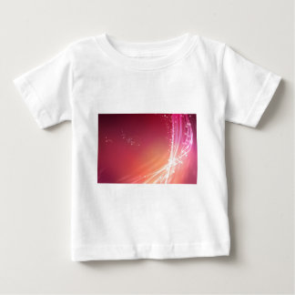 Abstract Vibrant Pink with White Lines Baby T-Shirt