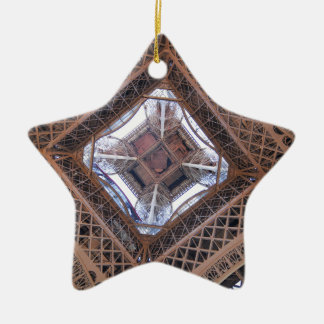 Abstract view of Eiffel Tower Ceramic Star Decoration
