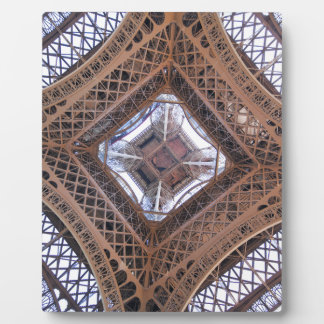 Abstract view of Eiffel Tower Plaque