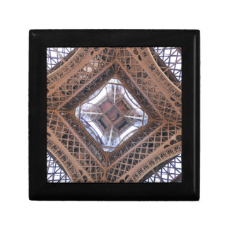 Abstract view of Eiffel Tower Small Square Gift Box