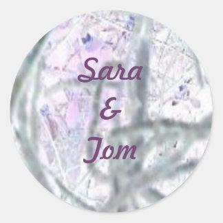Abstract Vines Round Sticker