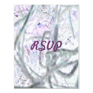 """Abstract Vines, RSVP 4.25"""" X 5.5"""" Invitation Card"""
