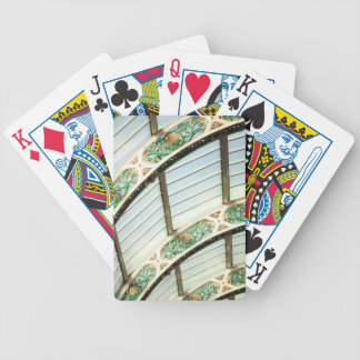 Abstract vintage architecture bicycle playing cards