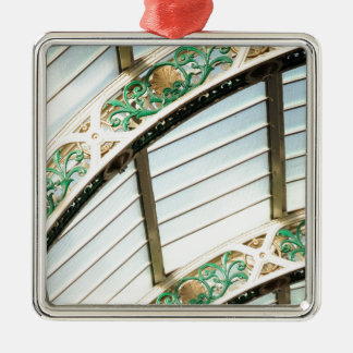 Abstract vintage architecture christmas ornament