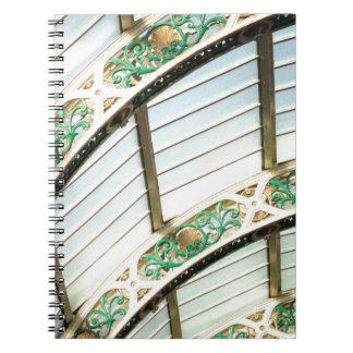 Abstract vintage architecture notebook