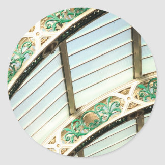 Abstract vintage architecture round stickers