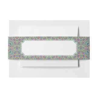 Abstract vintage background invitation belly band