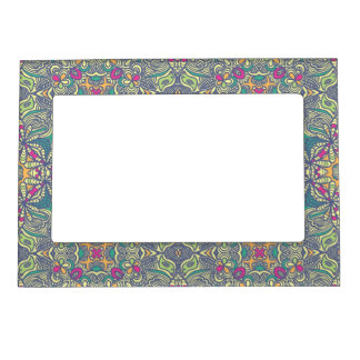 Abstract vintage background magnetic photo frame