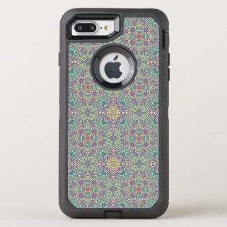 Abstract vintage background OtterBox defender iPhone 8 plus/7 plus case