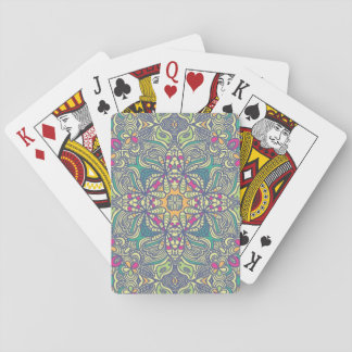 Abstract vintage background playing cards