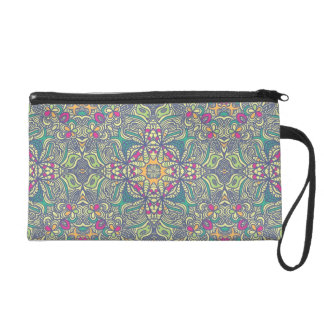 Abstract vintage background wristlet purse