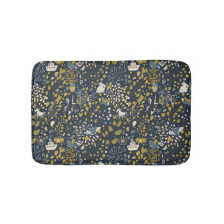 Abstract vintage pattern bath mat