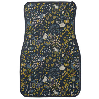 Abstract vintage pattern car mat