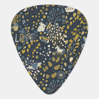 Abstract vintage pattern guitar pick