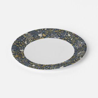 Abstract vintage pattern paper plate