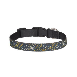 Abstract vintage pattern pet collar