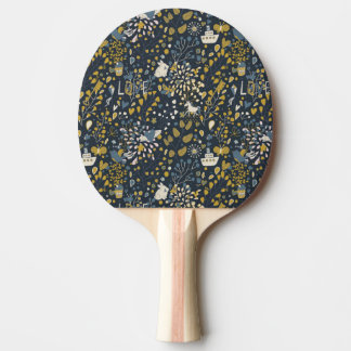 Abstract vintage pattern ping pong paddle