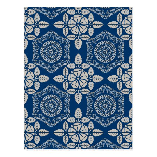 Abstract vintage pattern postcard