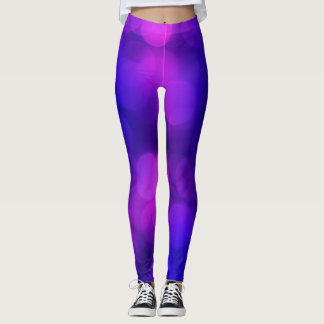 Abstract violet colors leggings