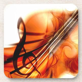 Abstract Violin Art Beverage Coasters