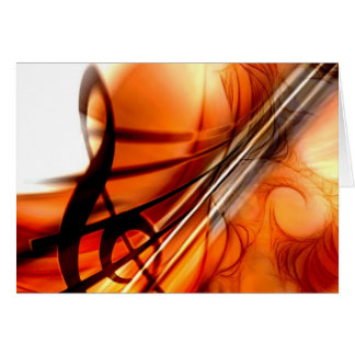 Abstract Violin Art Card
