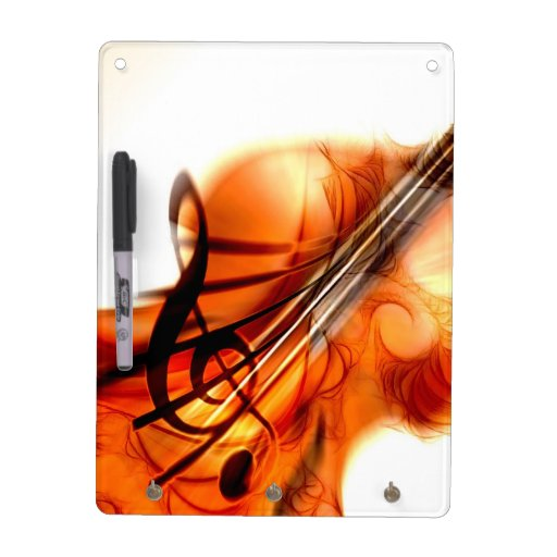 Abstract Violin Art Dry-Erase Whiteboards