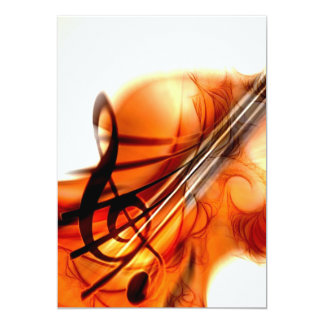 Abstract Violin Art Invites