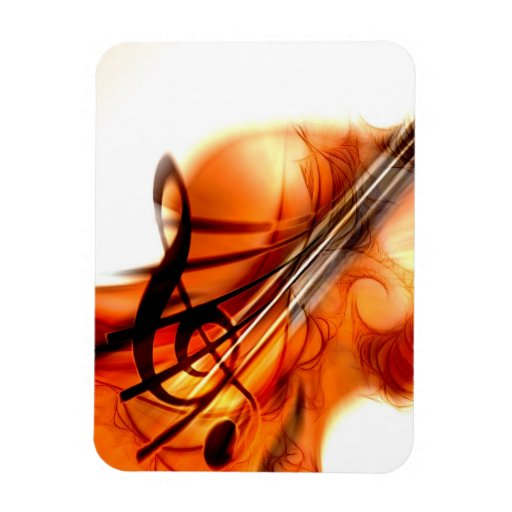 Abstract Violin Art Flexible Magnets