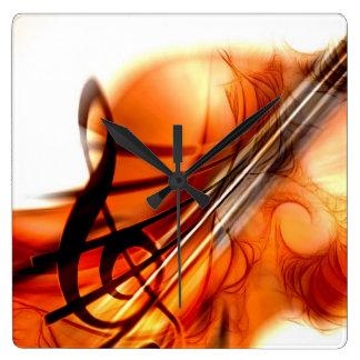 Abstract Violin Art Wallclock