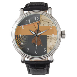 Abstract Violin Design Watch