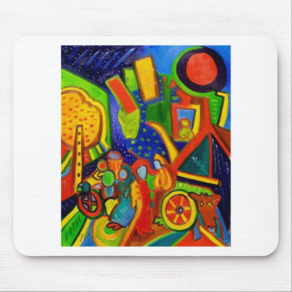 Abstract Wagon Mouse Pads
