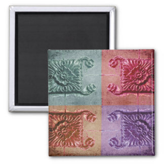 abstract wall art square magnet