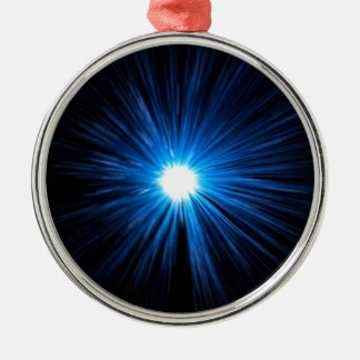 Abstract warp speed. Silver-Colored round decoration