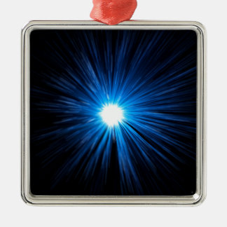 Abstract warp speed. Silver-Colored square decoration