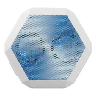 Abstract warp speed. white bluetooth speaker