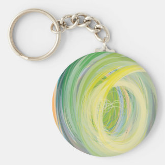 Abstract Washing Machine Rainbow Basic Round Button Key Ring